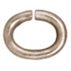 Jump Ring 20 Gauge Oval 2.7x4.2mm  Rhodium